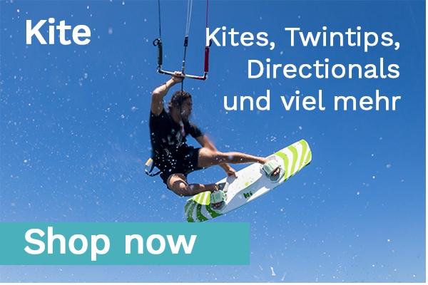 : Kites, Twintips, Directionals, große Auswahl an Kitetrapezen und viel mehr
