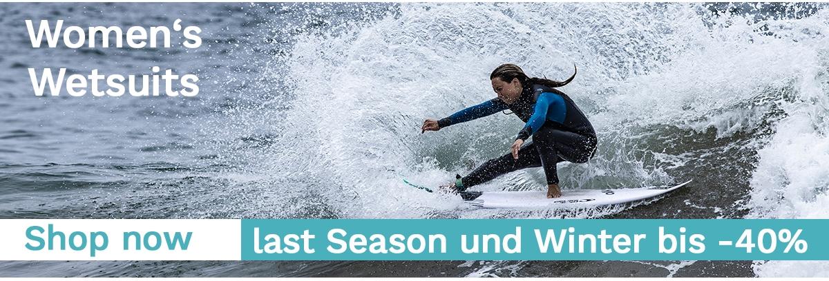 Last Season und Winter Neoprenanzüge bis -40% reduziert