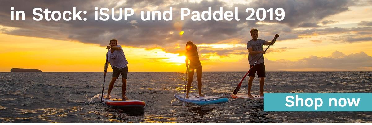 iSUP und SUP Paddel auf Lager beim Freerider in Hamburg am Dammtor